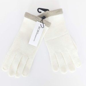 NWT BCBGeneration White Camel Knit Gloves